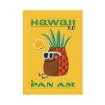 Hawaii Pan Am Airways Print Poster Canvas