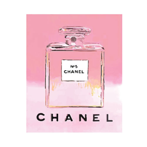 Pink Chanel No 5 No 5 No5 Perfume Bottle Pop Art