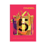 Chanel No 5 Vintage Poster Print Canvas