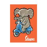 Vespa Elephant Poster