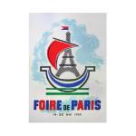 Foire de Paris 1955 Vintage Poster