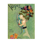 Vogue 1935 Flowers Cover Green