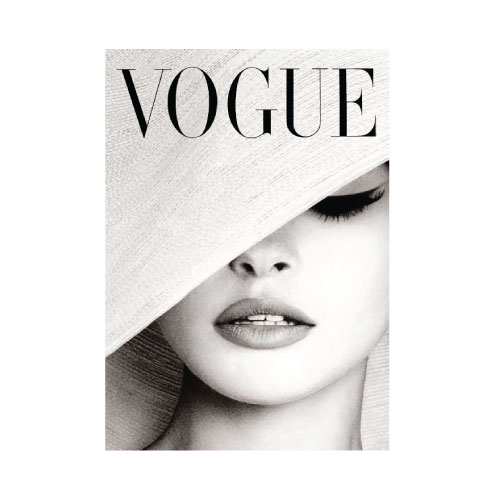 Vogue Cover White Hat Photography Advertisement Print