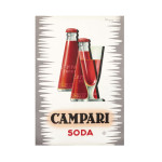 Campari Soda with Goblet Red and Grey Print