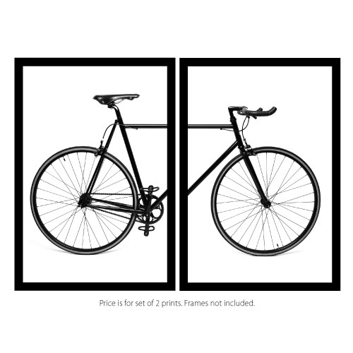 Bike print set scandi bicycle frames