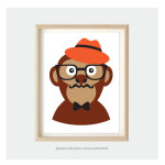 monkey art for kids bedroom nursery