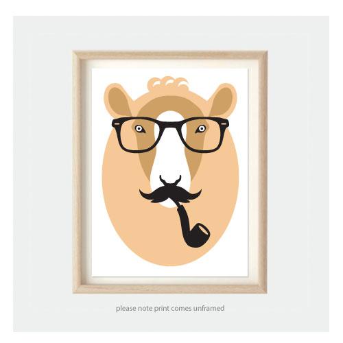 kids bedroom nursery art camel - Kids Animal Prints