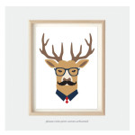 Deer Kids Nursery Animal Art Prints