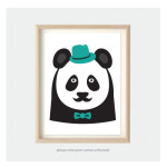 Kids Bedroom Nursery Art Prints Panda Animal