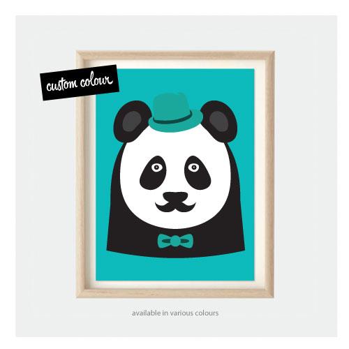 Panda Kids Pop Art Kids Animal Prints For Nursery Or