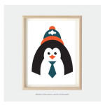 Kids Bedroom Art for Nursery Penguin Animal Print