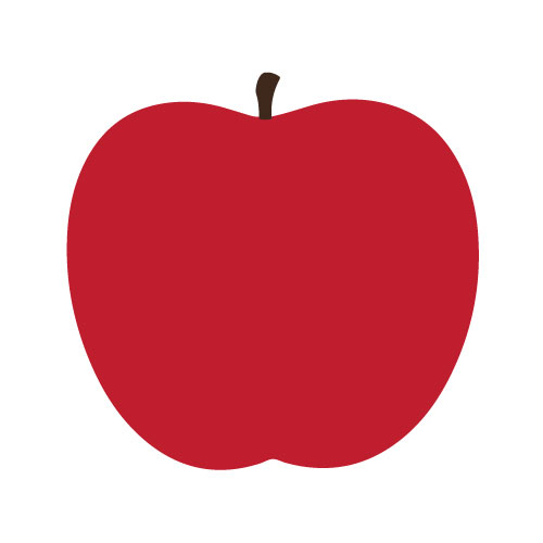 red apple print square like the art from dee s kitchen on the