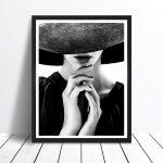 Like a Prayer scandi art print poster black hat lady photography