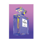 Purple Chanel Perfume Bottle Advertisement Print Poster Canvas
