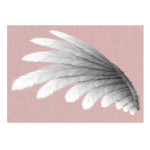 Romantic Wing in Dusty Pink Print poster