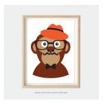 monkey art for kids bedroom nursery